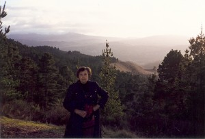 Barbara Rowe on her 1996 visit to Monterey County.
