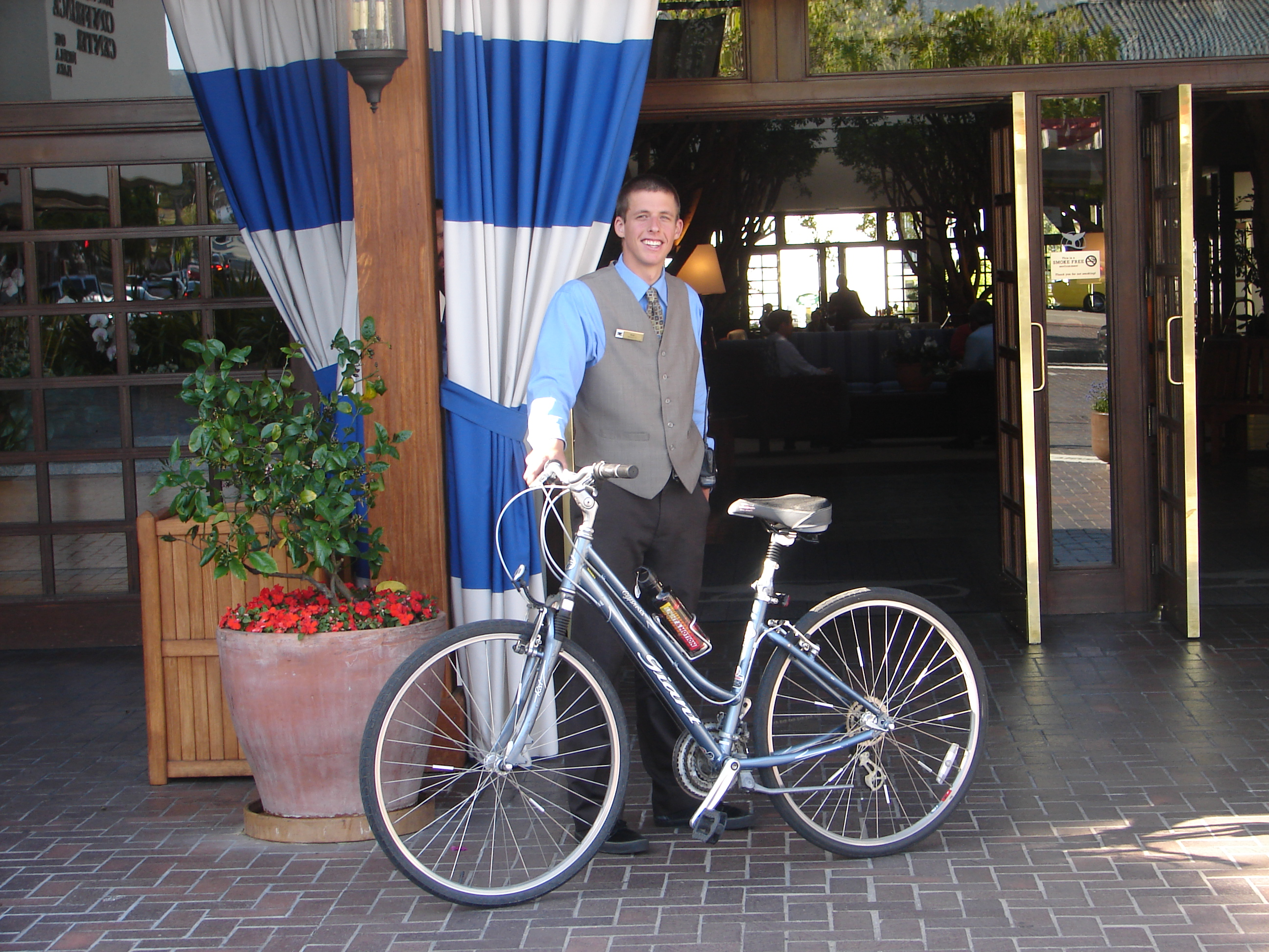 Nick - cheery valet and savvy cyclist