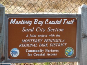 sign - mobay coastal trail sand city