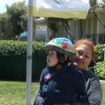 Helmet - lil one and mom - pal bike fair