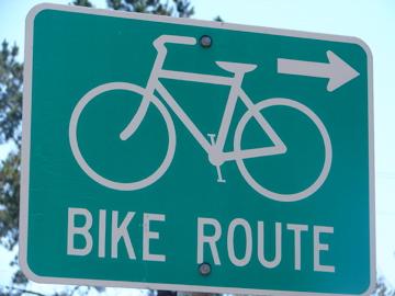 sign - bikeroute