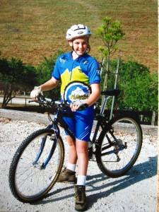 Aaron with new mt bike - jul aug 10 135