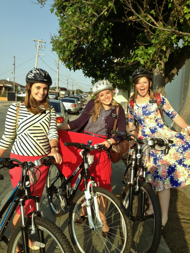 Bike to worship - Seaside young women