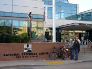 Salinas - Greenlaws at wall sign - Steinbeck Ctr