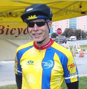 Frank Henderson May 2011 at Seaside PAL Bike Fair