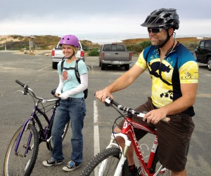 Jerrica & father Darius Rike, 5-12-12 at Intergen Ride