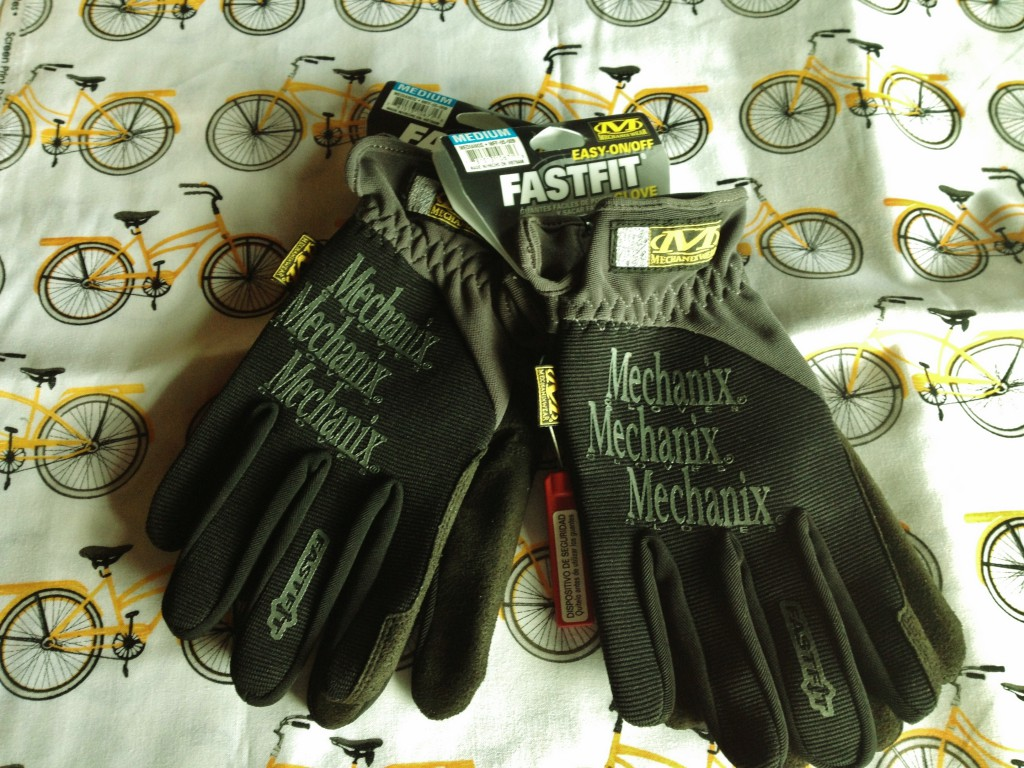 Mechanix.com gloves and Beverly's fabric