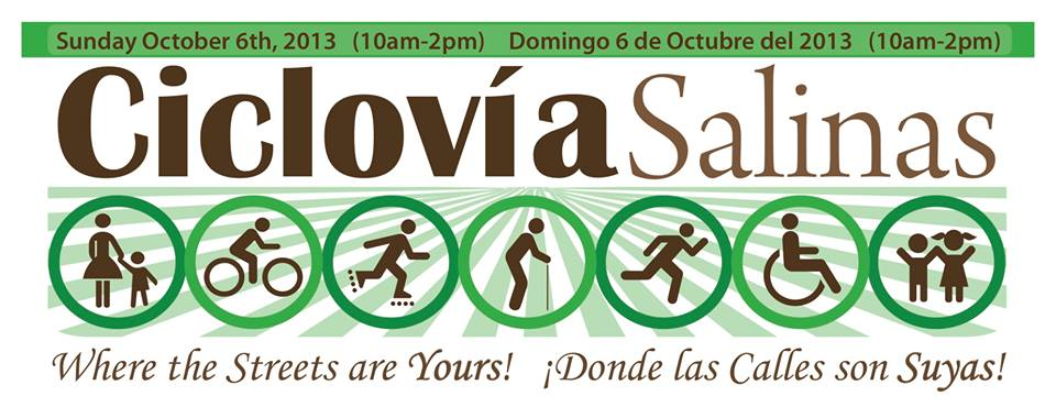Oct 6 2013 Ciclovia Salinas banner with hrs