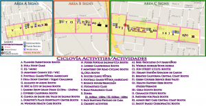 PARTICIPANTS Ciclovia Map with Activities