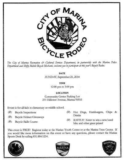 9-21-14 marina bike rodeo