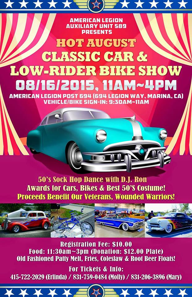 Aug 16 2015 Lowrider Bikes American Legion