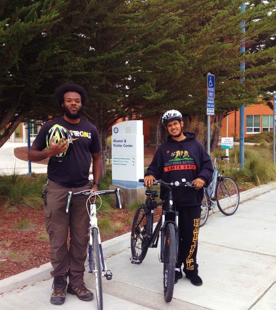 Bernard Green and Jerry Ramos, local bike advocates