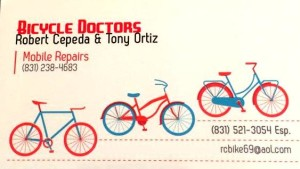 Bicycle Doctors biz card