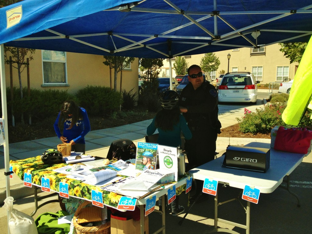 Bicycling Monterey and Greenfield PD teamed up 2012 health and safety fair