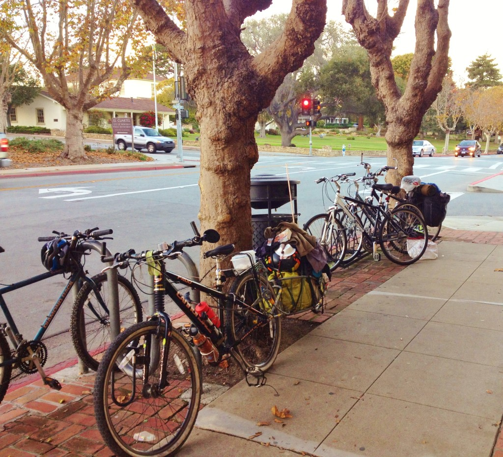 Bike parking Monterey Library front 2015