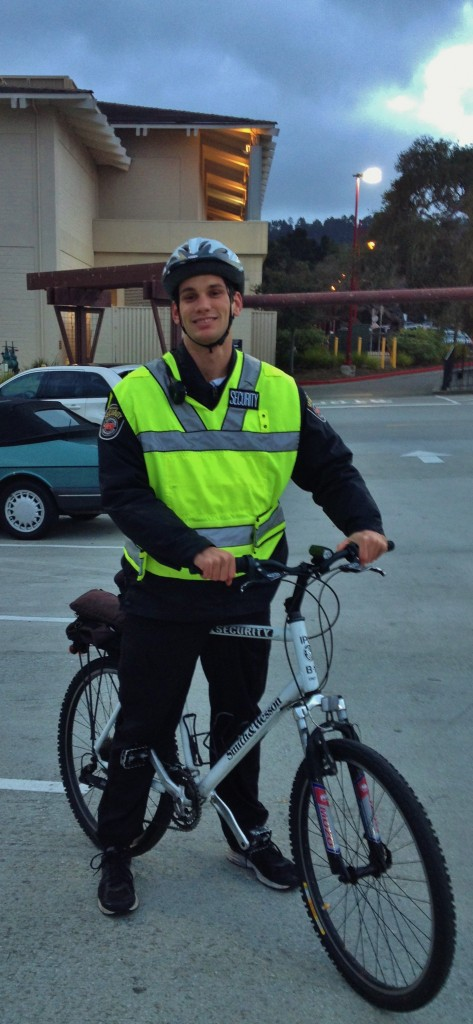 Del Monte Center security guard by bike