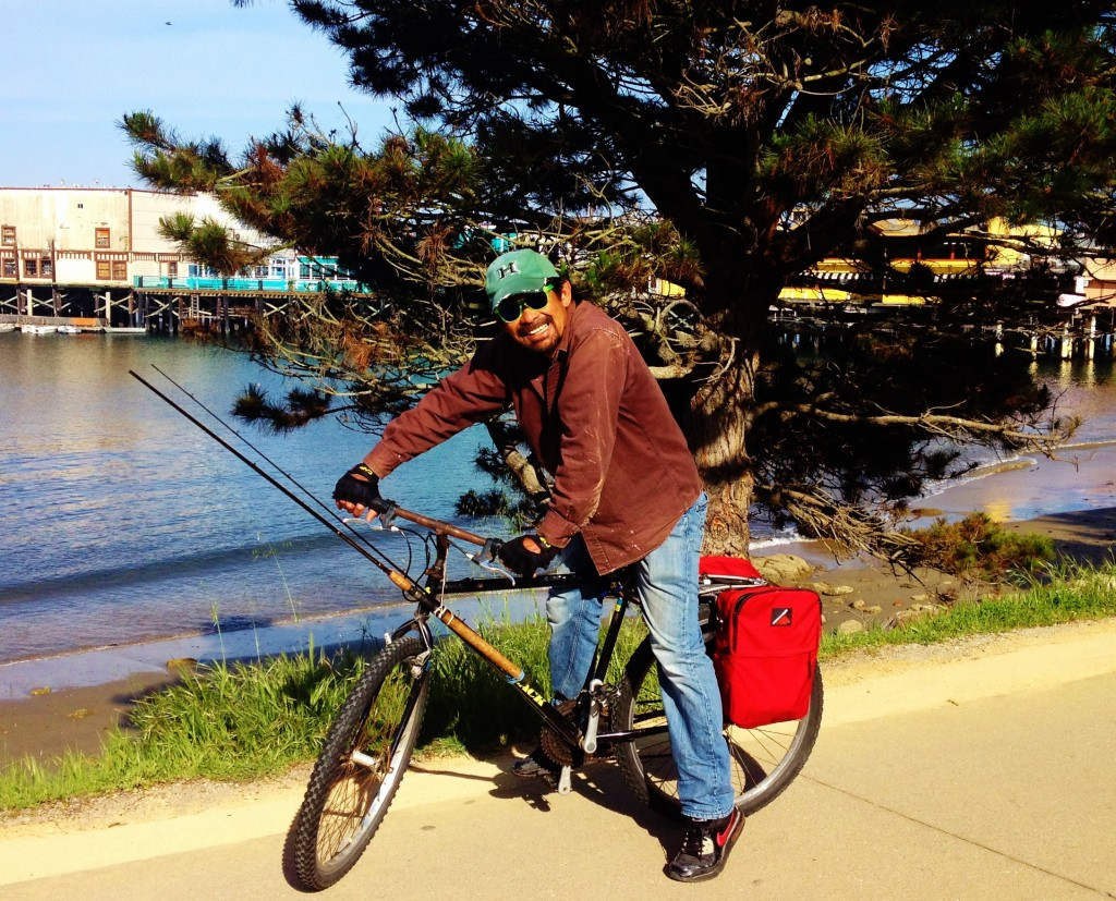 Fishing-by-bike Tres April 2014 in Monterey