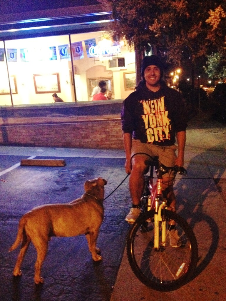 Gerardo BMX - Marisco's Seaside - with dog