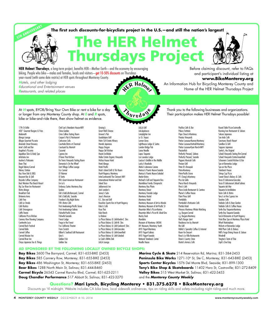 HER Helmet Thursdays 5th Anniversary poster