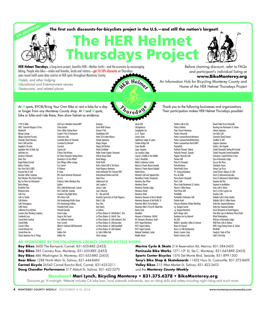 HER Helmet Thursdays 5th Anniversary poster - ds