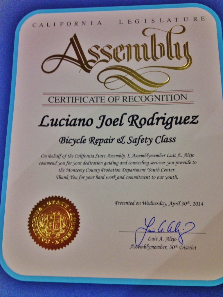 Luciano Rodriguez April 2014 CA Assembly