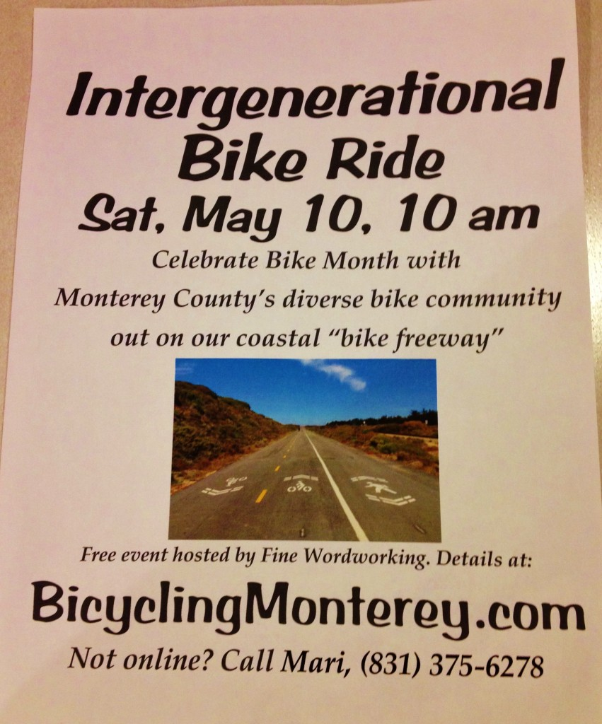 May 10 2014 Intergenerational Bike Ride Monterey County