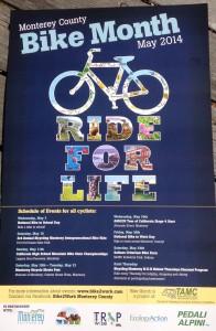 Monterey County Bike Month 2014 poster English