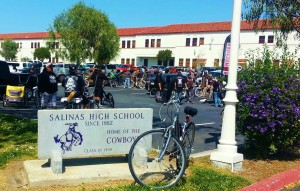 Salinas High burrito ride