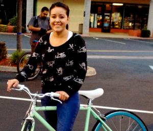 Salinas female rider at SBP - Summer 2012
