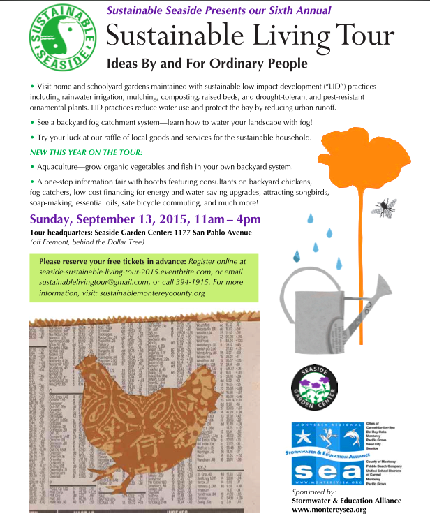 Sustainable Seaside - 2015 Sustainable Living Tour 2015 flier