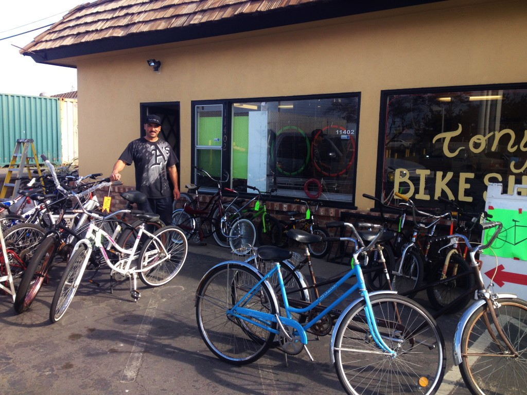 Tony's Bike Shop Castroville 1-29-14
