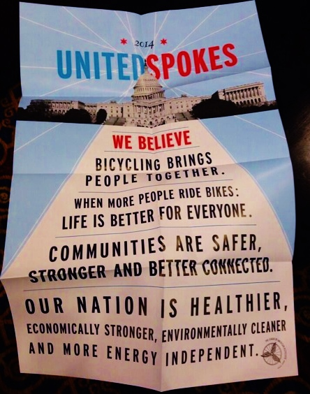 We believe bicycling - United Spokes - summit 2014
