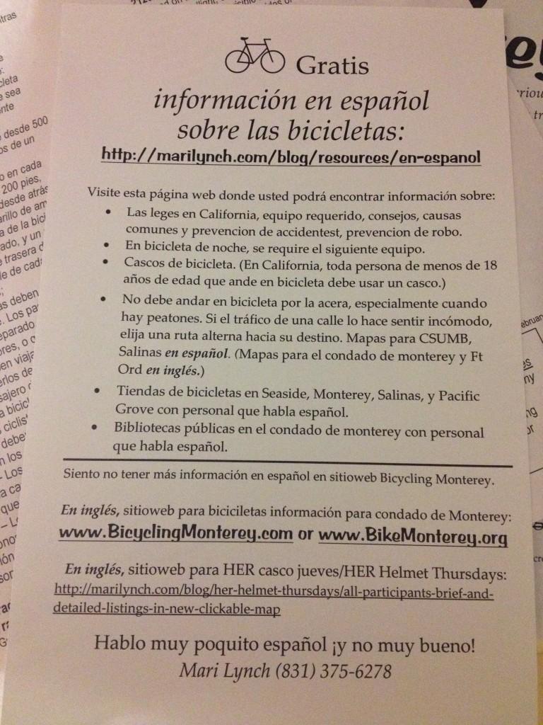 informacion en espanol - condado de monterey