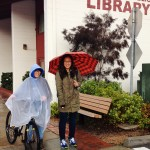 rainy day at mry library